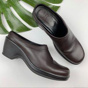 Dansko Brown Leather Clogs 40 US 9.5-10